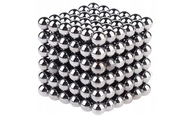 """НеоКуб 6мм 216 шариков """"серебристый"""""""