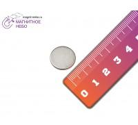 Неодимовый магнит 14х1,5 мм