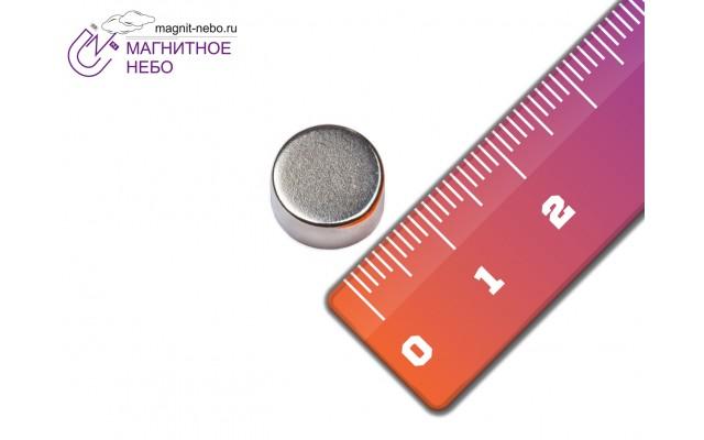 Неодимовый магнит 10х5 мм
