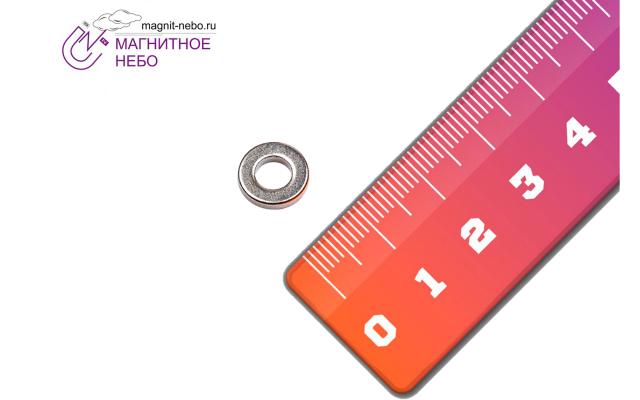 Неодимовый магнит  кольцо 10х5х2мм