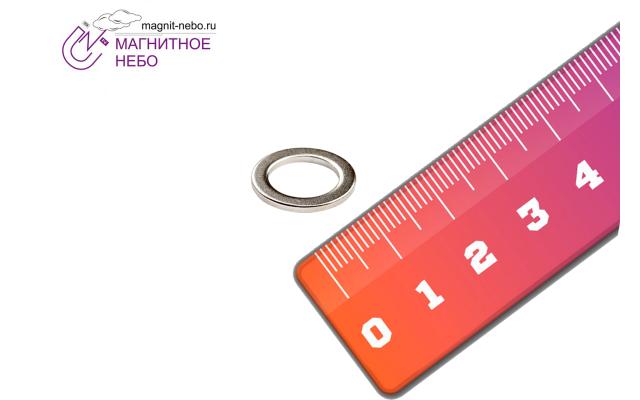 Неодимовый магнит кольцо 14х10х1 мм