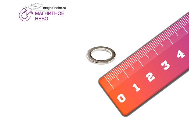 Неодимовый магнит кольцо 14х10х1,25 мм