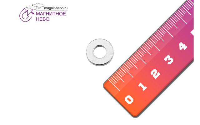 Неодимовый магнит кольцо 15х7х3 мм