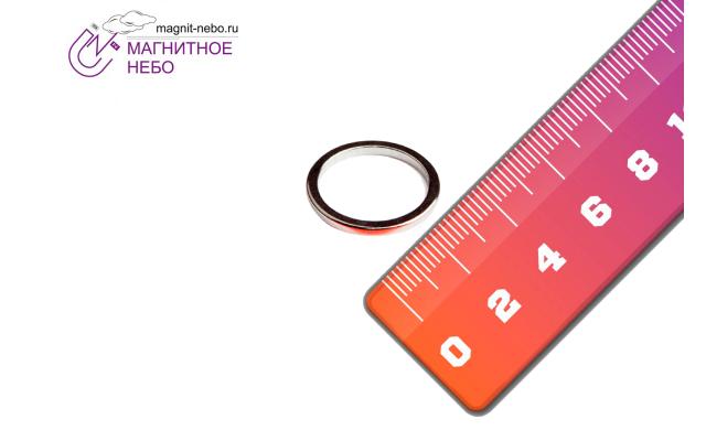 Неодимовый магнит кольцо 34х27,6х3 мм