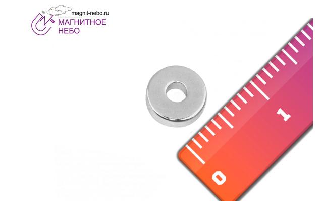 Неодимовый магнит кольцо 6х2х2 мм