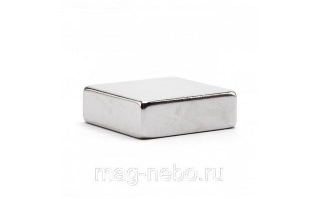 Неодимовый магнит прямоугольник 30х30х10 мм
