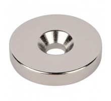 Неодимовый диск с зенковкой 25/5 х 4,5\9 мм