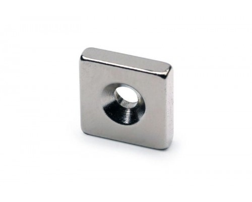 Неодимовый квадрат с зенковкой 12х12х3/3х6мм