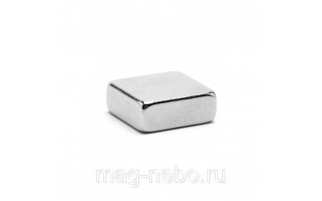 Неодимовый магнит прямоугольник 10х10х5 мм