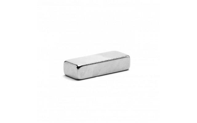 Неодимовый магнит прямоугольник 25х10х6 мм